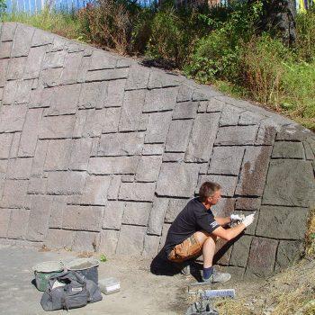 Renoveringsarbete stödmur – Liljeholmsbron